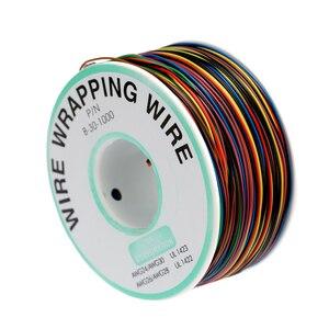 Новый 250 м 8-проводной цветной изолированный 30-1000 30AWG провод обмотки кабеля обмотки катушки