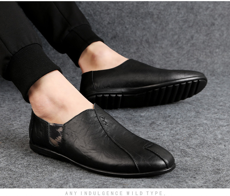Solid Spring Autumm Casual Loafers Shoes for Men Classics Concise Light Flat Slip On Shoes Fashion Leisure Driving Shoes 48