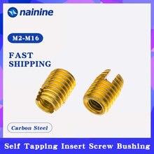 [M2-M16] auto galvanizado rosqueando a bucha do parafuso da inserção 302 entalhado tipo reparo da porca da inserção da linha do fio