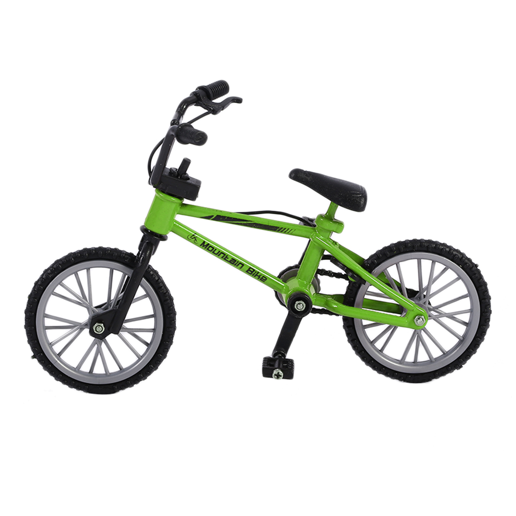 OCDAY Simulation Alloy Finger Bmx Bikes Children Mini Size Green Fingerboard Bicycle Toys With Brake Rope Gift