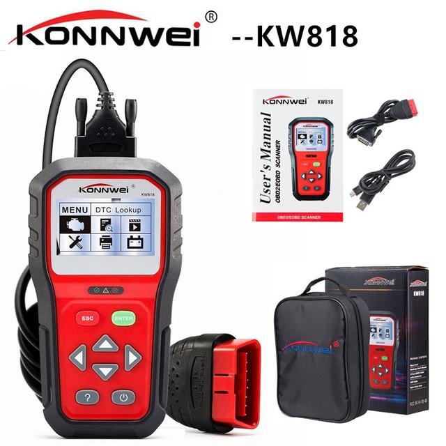 KONNWEI KW818 Auto Diagnostic Scanner Car Fault Code Scanner Tool OBD Engine Code Reader