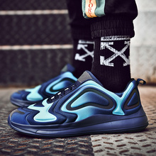 купить Brand New Running Shoes Men Sky Eye Gradient Color Sneakers Outdoor Sport Shoes Trainers Sports Athletic Gym Jogging Shoes Man дешево