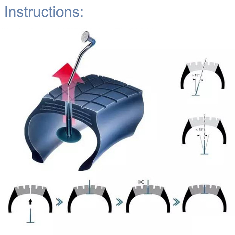 Dropshipping 24pcs/Set Tyre Puncture Repair Wired 4mm Plug Patch Mushroom Car Van Repairing Kits OE88