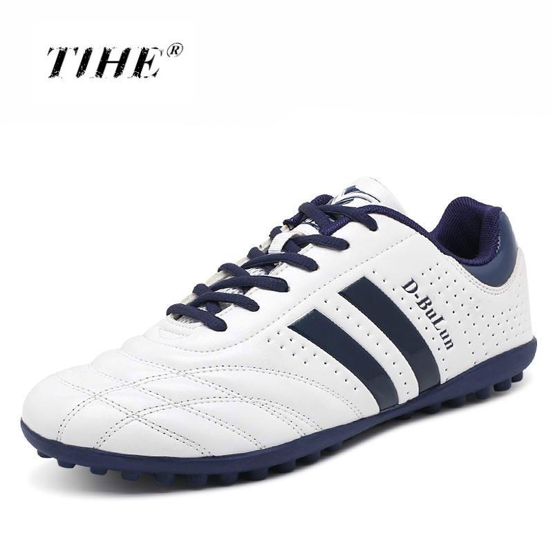 Домашние женские новые брендовые футбольные кроссовки сверхтонкие дышащие высокое качество дешевые оригинальные TF детские футбольные
