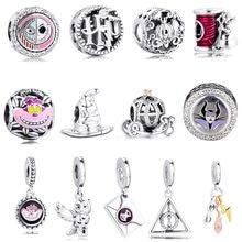 Arabaları fare şapka metresi Charms boncuk kadınlar için DIY takı Fit Pandora bilezik 925 ayar gümüş orijinal Bijoux Femme