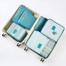 6 pièces/ensemble grand sac de voyage pour vêtements maison poche sacs de rangement maille emballage Cubes accessoires de voyage fonctionnels organisateur de bagages