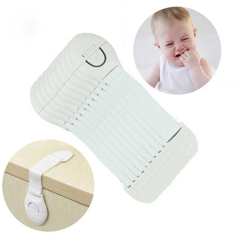 10 ชิ้น/ล็อตเด็กพลาสติกเด็กล็อคเด็กทารกความปลอดภัยประตูปราสาทลิ้นชักตู้ห้องน้ำล็อคความปลอดภัย