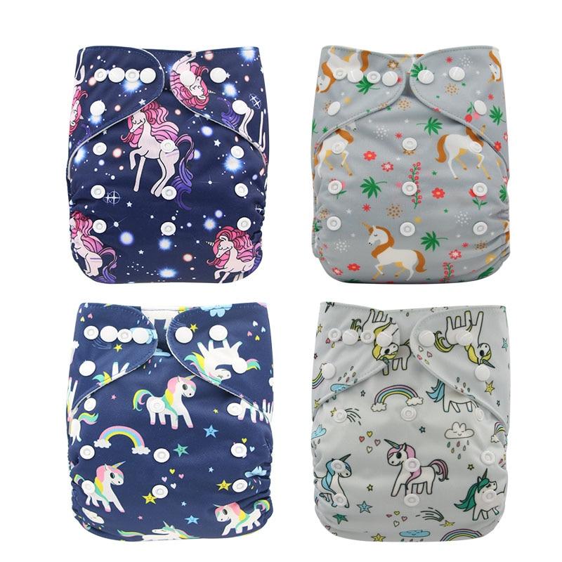Diaper Baby Cloth Diapers Ohbabyka Fralda Adjustable Boy Girl Newborn Washable Pocket Diaper Cover Waterproof Reusable Nappies