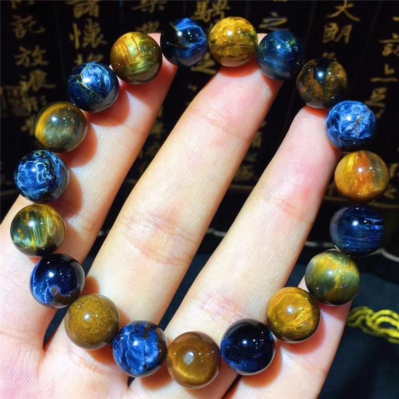 Natural Brazil  Seven 7 Melody Stone Round Beads Bracelet 10mm AA
