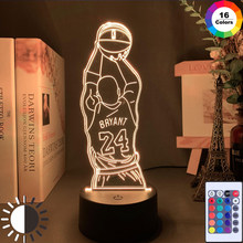 Led Night Light Jump Shoot Figure Back View Bedroom Decor Nightlight Desk 3D Lamp Dropshipping Memorial Gifts