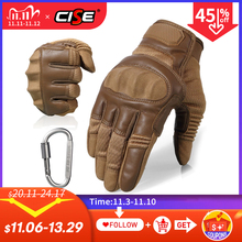 Touchscreen PU Leather Motorcycle Full Finger Gloves Protective Gear Racing Biker Riding Motorbike Moto Motocross 2020 New