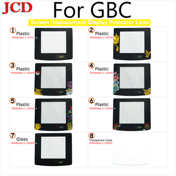 JCD New Plastic Glass Lens for GBC Screen Glass Lens for Gameboy Color Lens Protector W/ Adhensive For GBC Plastic lens Nintend фото