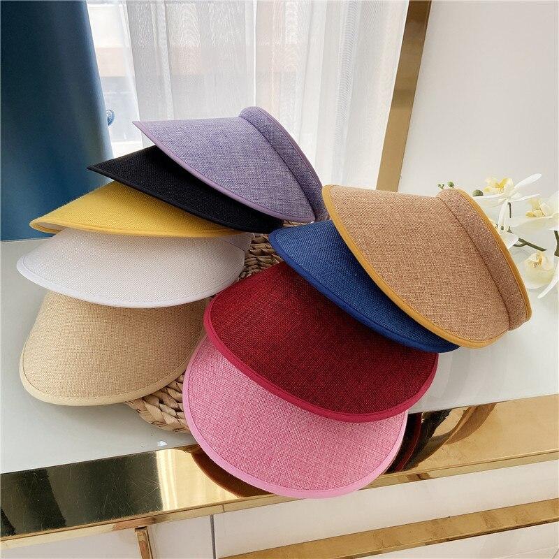 Шляпа с защитой от солнца, простая пляжная шапка для езды на велосипеде, летняя, с защитой от ультрафиолета, для занятий спортом на открытом ...