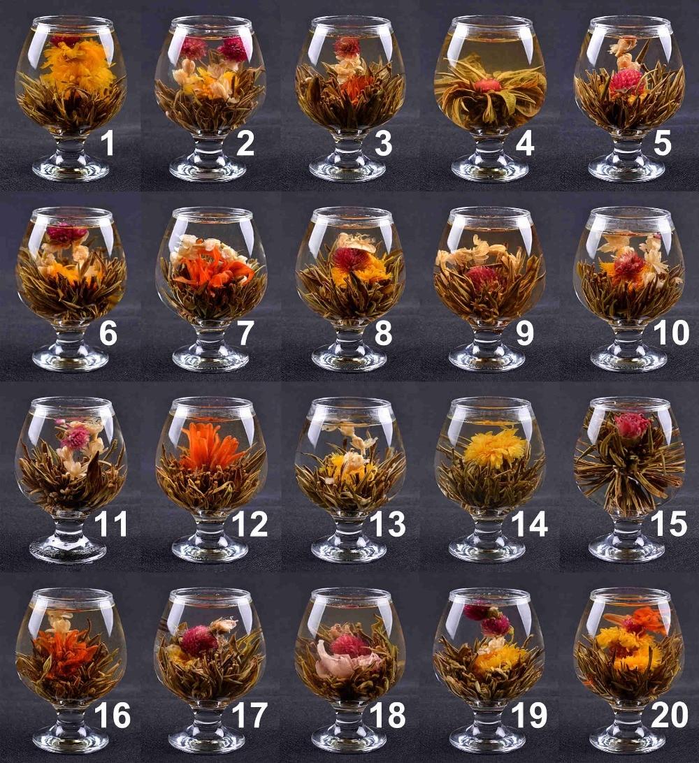 Lot Of 20 Kinds Handmade Blooming Flower Tea Balls Beautiful Herbal Artistic Blooming Tea Wedding Gift
