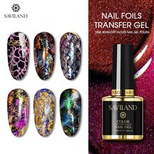 SAVILAND Starry Sky Sticker Transfer Gel Nail Glue UV DIY Sticker Soak Off Nail Glue UV Gel Polish DIY Manicure Nail Art Design nail sticker korea 3d nail sticker watermark applique phototherapy nail polish glue flower sticker white big sticker
