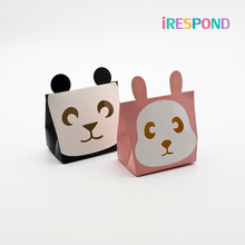 10PCS Small Animal Box Panda Rabbit Cookie Candy Kids Baby Birthday Party Favor Paper Gift Packaging Wedding Decoration