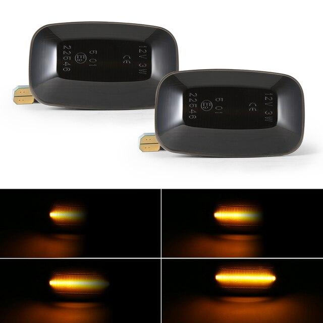 2Pcs Dynamic LED Turn Signal Side Marker Lights 12V Flowing fender Light Side Repeater for Toyota Landcruiser 70 80 100 Series