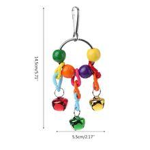 Домашнее животное птица колокольчики попугаи когти ноги ловить клетку подвесная игрушка подвеска жевательная игрушка с красочным колокольчиком N1HA