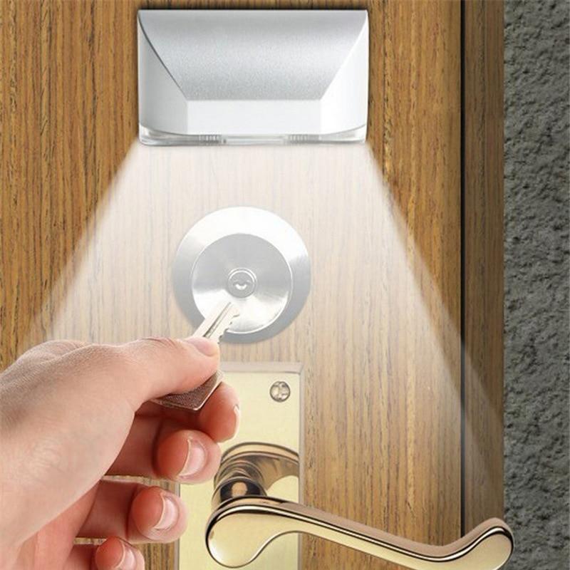 Practical Led Night Lamp Intelligent Door Lock Cabinet Key Induction Small Night Light Sensor Moon Lamp Lampara De Luna