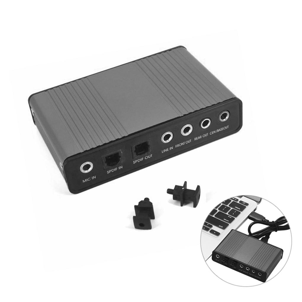 USB Sound Card 6 Channel 5.1/7.1 Optical External Audio Card Converter For Laptop Desktop