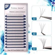Premade Volume Fans Lashes 3D/4D/5D/Short Stem Russian Eyelashes Faux Mink Heat Bonded