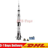 2009Pcs Creative Series The Apollo Saturn V Launch Vehicle Set Children Educational Building Blocks Bricks Toy 21309 37003