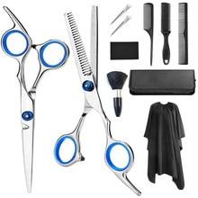 Profissional cabeleireiro tesoura de cabelo barbeiro barbearia corte desbaste tesouras dispositivos para corte tesoura conjunto salão de beleza ferramenta