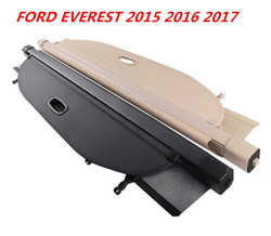 High quality Car Rear Trunk Security Shield Cargo Cover For FORD EVEREST 2015 2016 2017 (Black beige)