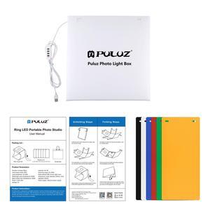 Image 5 - PULUZ caja de luz de 12x12 pulgadas/31x31cm, anillo de luz ajustable, Panel LED, Tentbox de fotografía, estudio fotográfico, caja de fotos y fondos de 6 colores