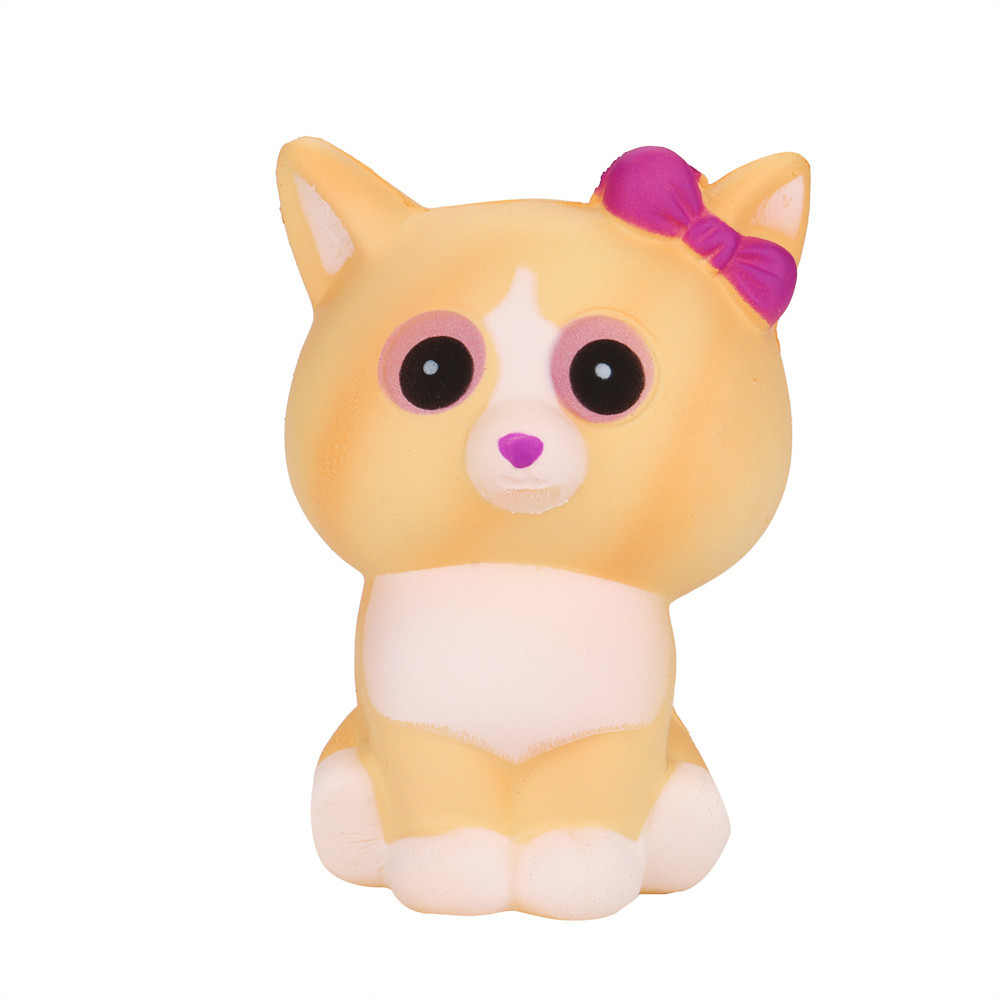 Squeeze Cat Cream Bread Scented Slow Rising Fun Toys Stress Reliever Decompression Toy Charm Gifts #A
