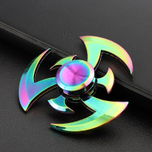 Fidget Hand Spinner Zinc Alloy Rainbow Metal Spiner Anti-Anxiety Toy for Spinners Focus Relieves Stress Adhd Finger Spinner E