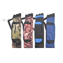 1pcs Arrow Bag Three Tubes Oxford Cloth Arrow Quiver Double Strap Shoulder for Bow and Arrow Archery Hunting Shooting Accessorys(China)