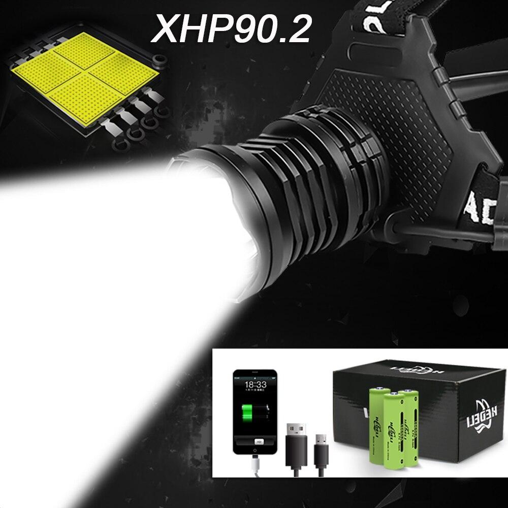 300000 lm xhp90.2 led kafa lambası xhp90 yüksek güç far torch usb 18650 şarj edilebilir xhp70 far xhp50.2 zoom kafa ışık