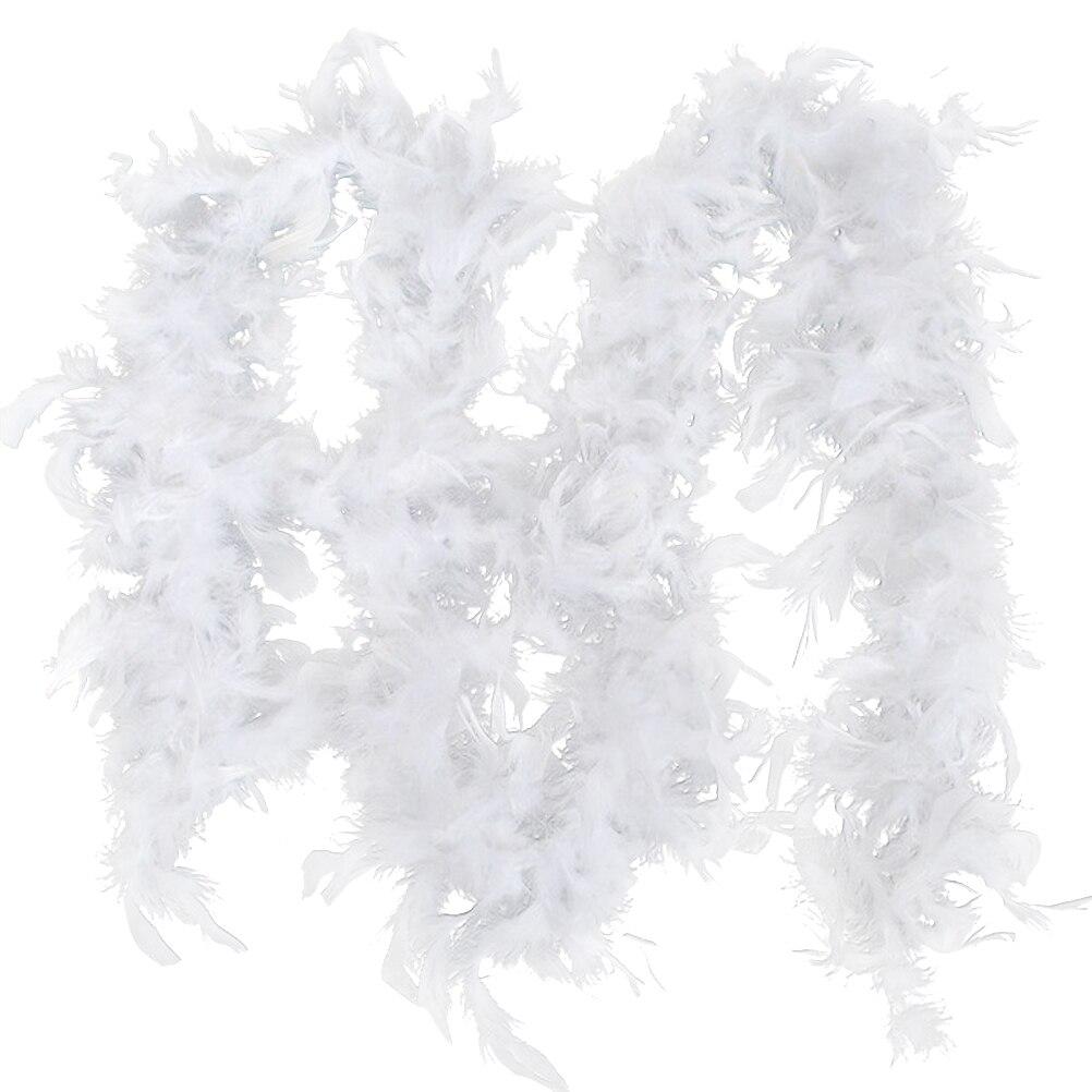 2M Рождественская Елка белая с меховым боа и ленты для рождественского декора вечерние Гирлянда Декор хлопчатобумажной ткани, украшенные дл...