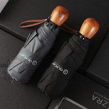 OLYCAT New Mini Umbrella Rain Women Wooden Handle Kids Umbrella 400T Sunscreen Parasol Pocket Folding Small Umbrellas Windproof