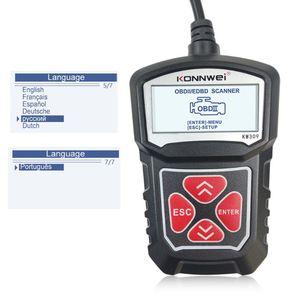 Image 3 - 2020 najnowszy profesjonalny samochodowy czytnik kodów diagnostyczne narzędzie skanujące KW309 OBD2 skaner motoryzacyjny Check Engine światła narzędzia Mu