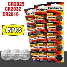 Panasonic 15 pçs bateria nova marca original para cr2032 cr 2025 cr2016 3v botão pilha baterias de moeda para assistir computador
