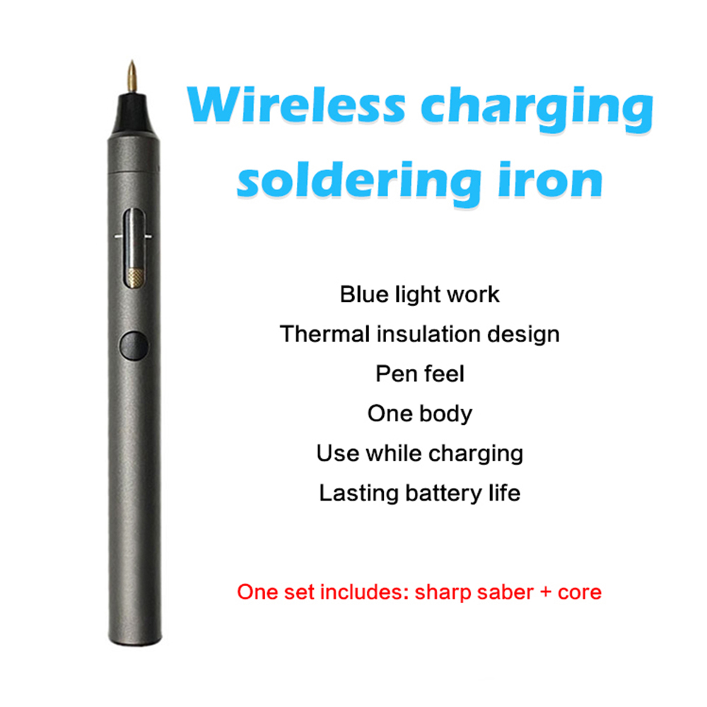 Tools : 15W Wireless Electric Soldering iron Mini USB DIY Soldering Station Kit Repair Tools Heating Element Solder Leather Accessorie