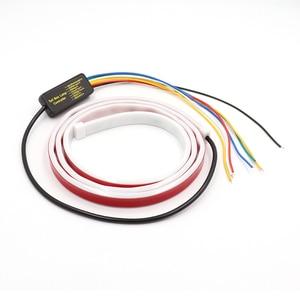 Image 2 - Luz de parada adicional dinâmica streamer flutuante led cauda do carro tronco bagageira tira dinâmica streamer turn signal lâmpada