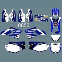 For YAMAHA WR250F WR450F 2005 2006 Graphics Decals Stickers Custom Number Name 3M Full Motorcycle Backgrounds Accessories