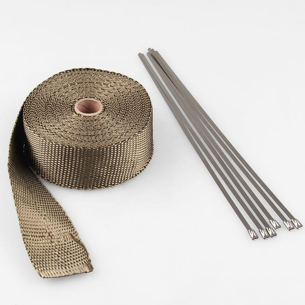 Motorcycle Modified Exhaust Pipe Insulation Cotton Insulation Cotton Coke Head Cloth Banana Insulation Tape