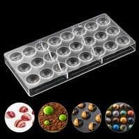 24 bola claro diamante Chocolate molde para hornear DIY policarbonato PC fabricante de Chocolate Mousse dulces molde para hornear pasteles herramienta