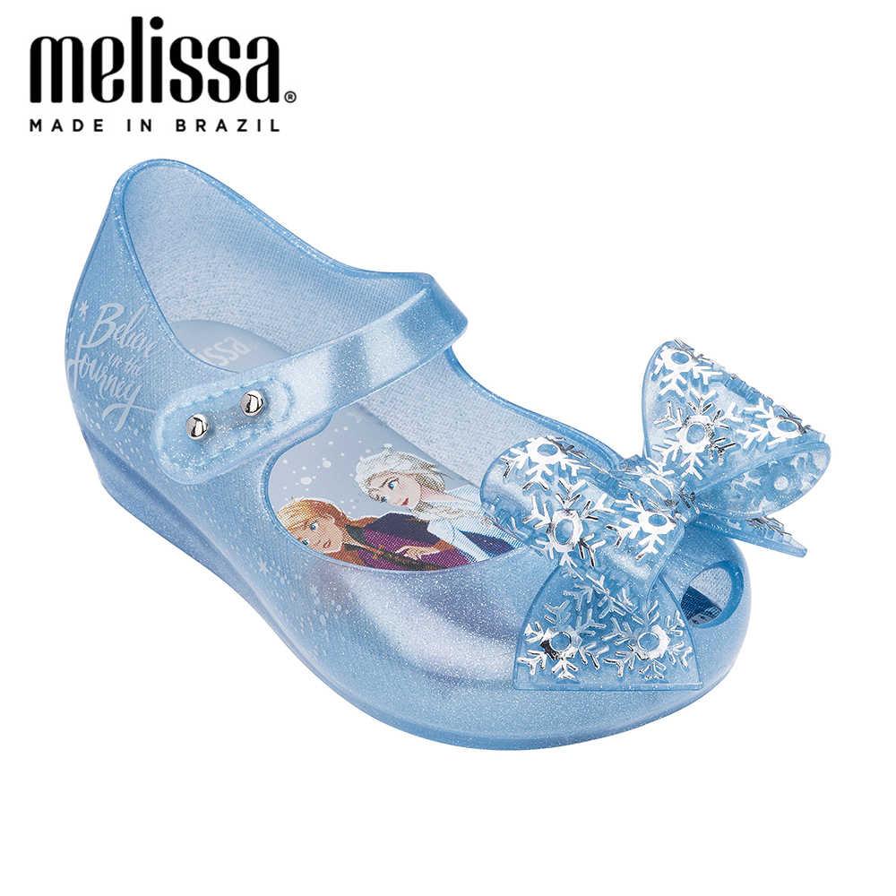 2020 Mini Melissa Ultragirl + Sneeuw Prinses Meisje Jelly Schoenen Sandalen Zachte Melissa Sandalen Voor Kids Antislip Zomer meisje Schoenen
