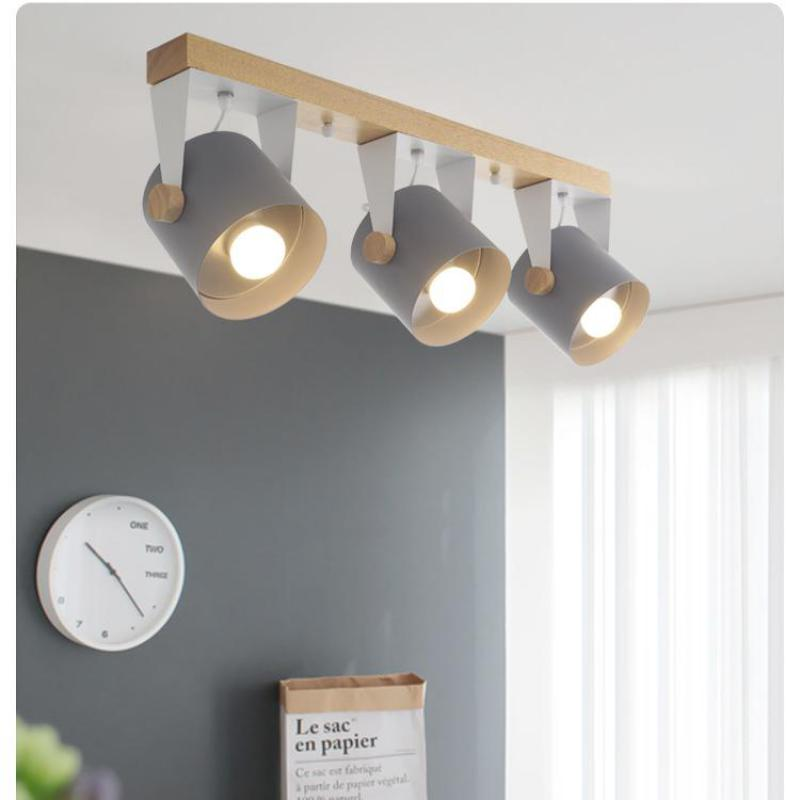 Nordic style modern office led Ceiling Lights wood iron ceiling lamp color Dining Room living room aisle LED commercial Lighting