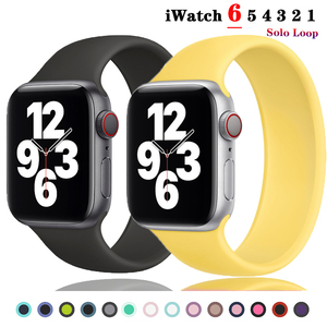 Solo Loop strap for apple watch serie 6 SE 5 4 band 40mm 44mm Silicone sport bracelet Correa iWatch 3 band 38mm 42mm Wrist strap