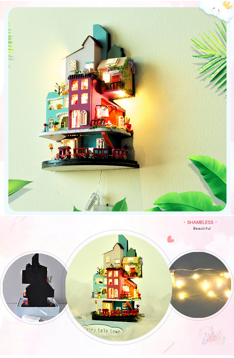 Fairy Tale Town DIY 3D Dollhouse Kit