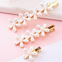 Jewelry Hairpins Hair-Accessor Flowers Imitation-Pearl Girl Women New-Fashion Kpop Delicate