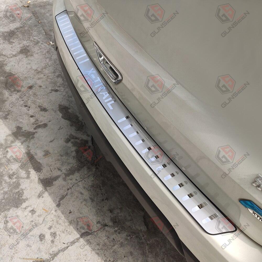 Steel Inner Rear Bumper Guard Plate Trim 2pcs for Nissan Rogue X-Trail 2014-2018