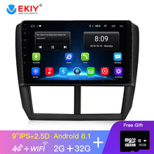 EKIY 9 ''IPS Auto Radio Multimedia reproductor de Video GPS de navegación Android 2 Din Auto Radio de Audio para Subaru Forester 2008-2012(China)