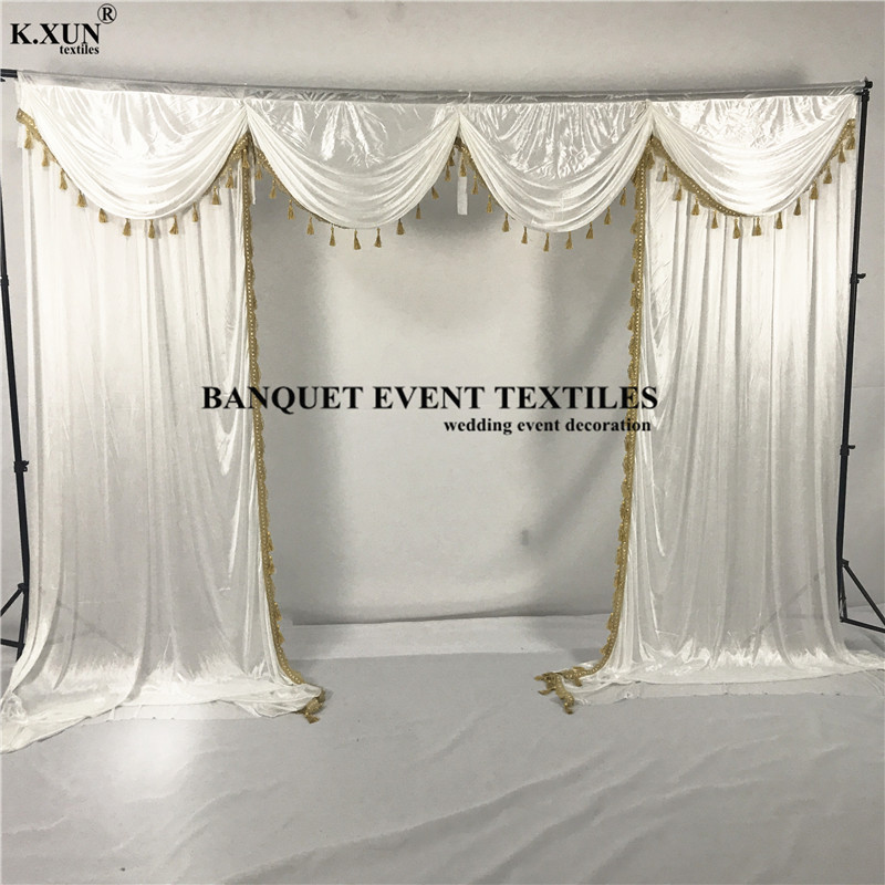 3M X 3M Color Stage Photography Background Drape Curtains Wedding Party Backdrop